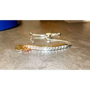 """LA CH """"MOM"""" adjustable bracelet silver & pink gold"""
